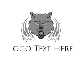 Roar - Wild Wolf logo design