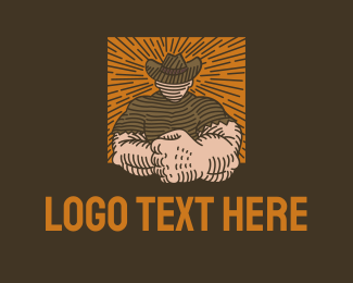 Construction - Strong Cowboy logo design