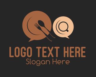 Plate - Dinner Chat logo design