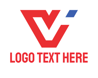 Sportswear - Red Letter V logo design