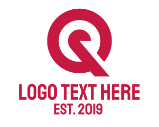 Owner Name - Red Target Q logo design