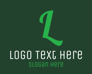 Restaurant - Green Letter Text logo design