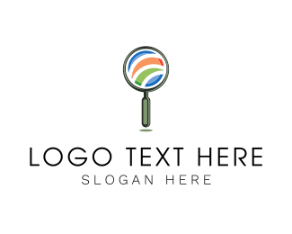 Explore - Magnifying Glass logo design