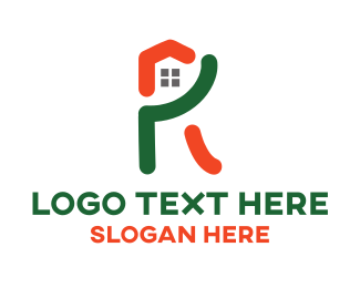 Roofing - R Home logo design
