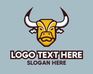 Butcher - Bull Mascot logo design