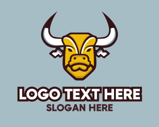 Cattle - Bull Mascot logo design