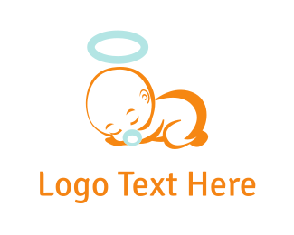 Pacifier - Sleeping Baby  logo design