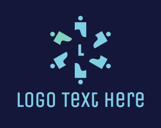 Discrimination - Propeller People Lettermark  logo design