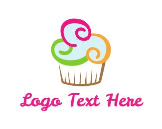 Dessert - Colorful Cupcake logo design