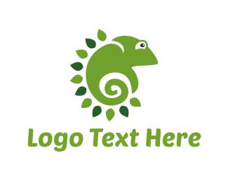 Ecological - Green Chameleon logo design