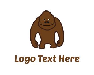 Gorilla - Brown Sasquatch logo design