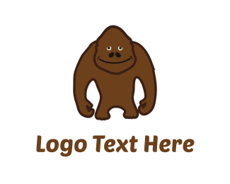 Black And Brown - Brown Sasquatch logo design