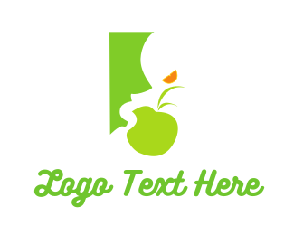 Eating - Green Food logo design
