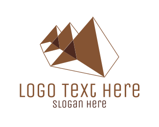 Egyptian - Brown Pyramids logo design