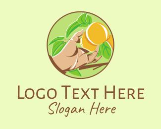 Harvest - Peach Tree logo design