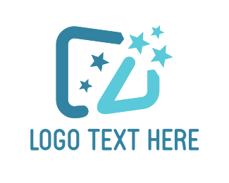 Business Software - Blue Wand logo design
