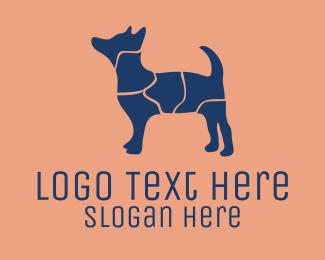 Dog Walker - Puzzle Dog logo design