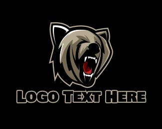 Grizzly - Bear Hunter Gaming  logo design
