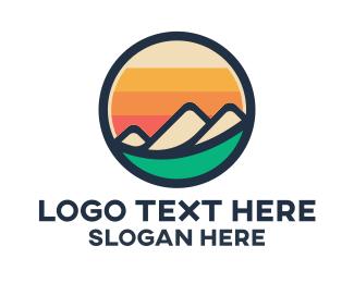 Landmark - Mountain Valley Badge logo design