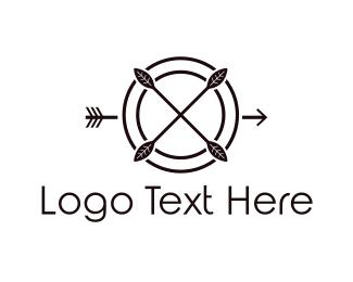 Hunter - Target & Arrow logo design