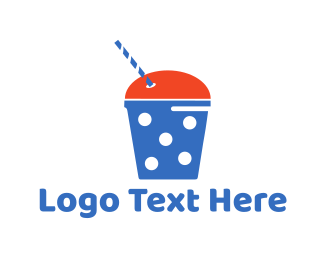 Straw - Smoothie  logo design