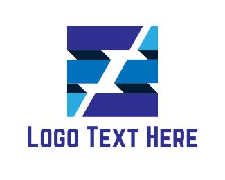 Letter F - Cube Letter F logo design