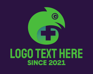 Chameleon - Lizard Cross logo design