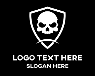 Pubg - Skull Head Shield logo design