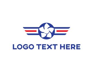Aviation - Aviation Propeller logo design