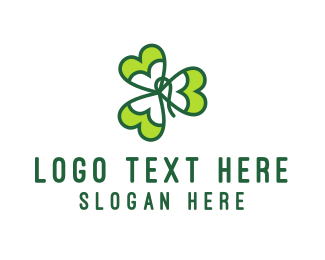 Four Leaf Clover - Shamrock logo design