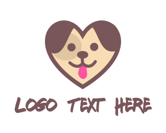 Dog Grooming - Puppy Heart logo design