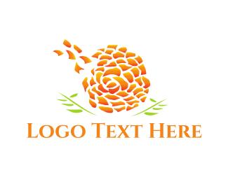 Dandelion - Marigold Flower logo design