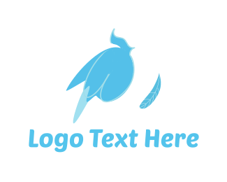 Dove - Blue Feather logo design
