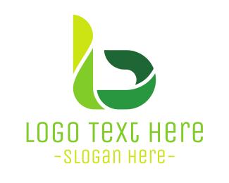 Lawn Care - Green Modern B logo design