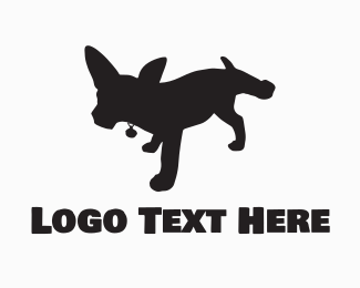 Breed - Black Dog Silhouette logo design
