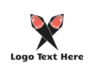Sushi - Sushi Hand Roll logo design
