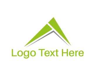 Volcano - Green Peak logo design