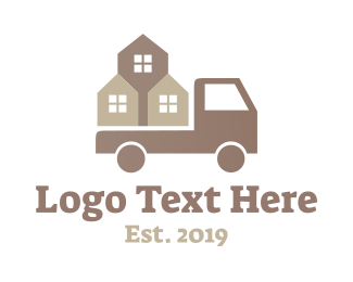 Removalist - Construction Truck logo design