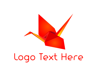 Ad Agency - Origami Red Bird logo design