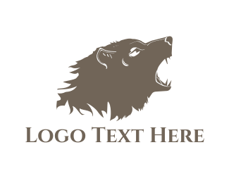 Fang - Wild Brown Bear logo design