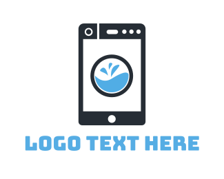 Washing Machine - Cleaning App logo design