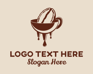 Coffee - Bean Melt logo design
