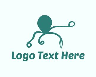 Tentacles - Octopus Silhouette logo design