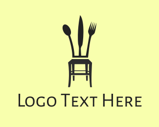 Cater - Cutlery Chair logo design