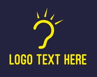 Listen - Bright Ear logo design
