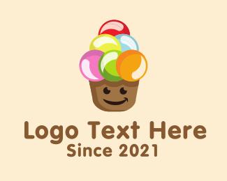 Coffee Shop - Happy Scoops logo design