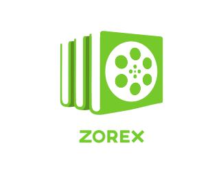 Social Reel Library logo design