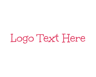 Toddler - Pink & Handwritten logo design