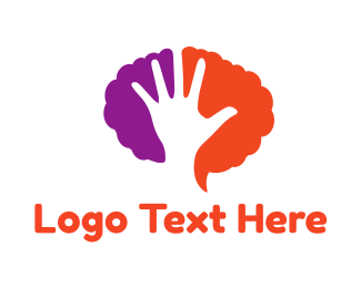 Psychology - Hand & Brain logo design
