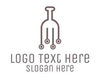 Pub - Wine Circuit logo design